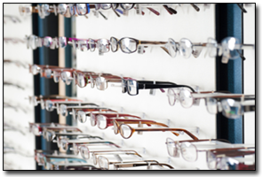 wall of glasses